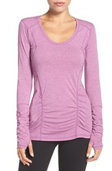 Zella Women's 'Z 6' Long Sleeve Tee Purple Gem