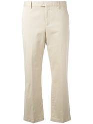 Pt01 Cropped Trousers Women Cotton Spandex Elastane 44 Nude Neutrals