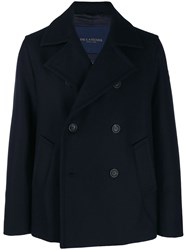 Paul And Shark Double Breasted Coat Blue
