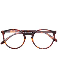 Lesca Round Shaped Glasses Brown
