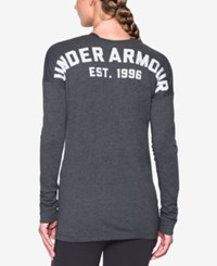 Under Armour Favorite Long Sleeve Top Carbon Heather White