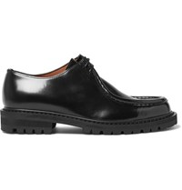 Dries Van Noten Leather Derby Shoes Black