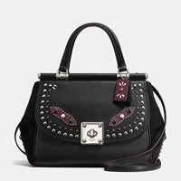 Coach Western Rivets Drifter Carryall In Glovetanned Leather Sv Black