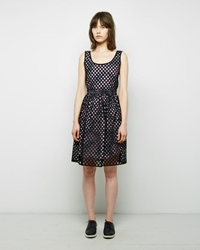 Carven Hemstitching Dress Black
