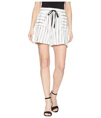 Vince Camuto Two By Nubby Stripe Drawstring Shorts Rich Black