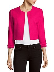 Karl Lagerfeld Cropped Open Front Jacket Hot Pink