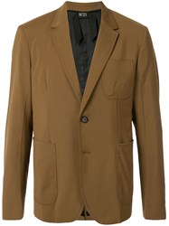 N 21 No21 Classic Fitted Blazer Brown