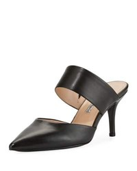 Charles David Amelie Two Band Heeled Mule Black