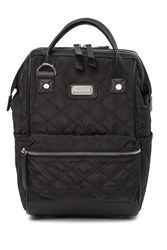 Madden Girl Quilted Small Backpack Black