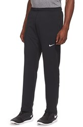 Nike Men's 'Y20' Tapered Fit Dri Fit Running Stretch Pants Black Reflective Silver