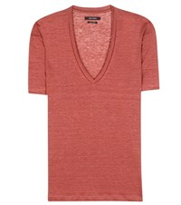 Isabel Marant Maree Linen T Shirt Red