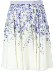 Giambattista Valli Orchid Print Skirt Pink And Purple