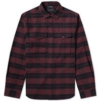 Wings Horns Flannel Utility Shirt Red