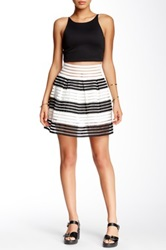 Romeo And Juliet Couture Stripe Skater Skirt Multi