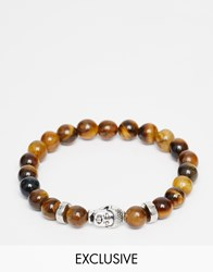 Reclaimed Vintage Bracelet With Buddha Brown