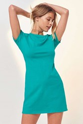 Bdg Bgd Quinn Shrunken T Shirt Dress Teal