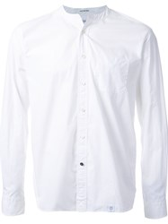 Bedwin And The Heartbreakers Collarless Button Down Shirt White