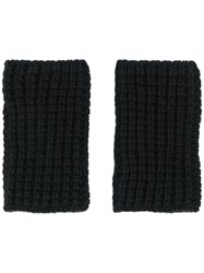 Barena Knitted Non Finger Gloves Black
