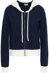 Madeleine Thompson Wool And Cashmere Blend Hooded Cardigan Midnight Blue