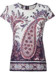 Isabel Marant A Toile Floral Paisley Print T Shirt Blue