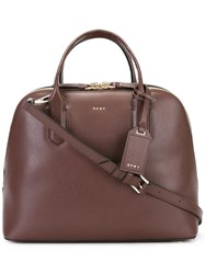 Dkny Double Zip Tote Pink Purple