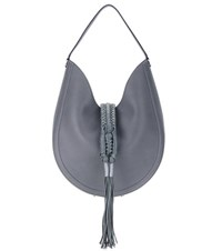Altuzarra Ghianda Knot Hobo Leather Shoulder Bag Grey