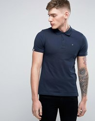 Jack And Jones Originals Polo Shirt With Embroided Chest Logo Navy