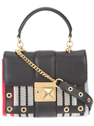 Sonia Rykiel Stripe Shoulder Bag Black