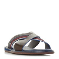 Ted Baker Farrull Tape Cross Strap Sandals Brown