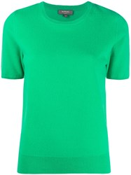N.Peal Crew Neck Cashmere T Shirt Green