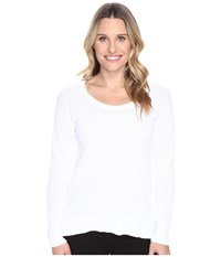 Michael Michael Kors Scoop Neck High Low Sweater White Women's Sweater