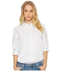 Hurley Wilson Long Sleeve Top White Women's Long Sleeve Button Up