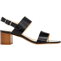 Barneys New York Double Band Slingback Sandals Black