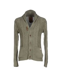 Pearly King Knitwear Cardigans Men Military Green