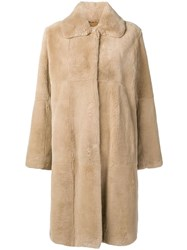 Manzoni 24 Collared Coat Neutrals