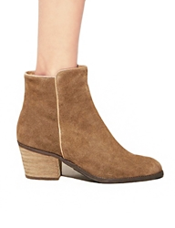 Pixie Market Neutral Suede Boots