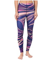 Cw X Stabilyx Tights Print Purple Lava Print Women's Workout Multi