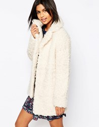 Pepe Jeans Cameron Faux Fur Teddy Coat 808Mousse White
