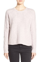 Women's Madewell 'Palisade' Back Zip Sweater Heather Shell