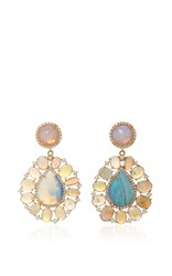 Irene Neuwirth Diamond Pave Tear Drop Earrings Green
