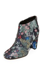 Sam Edelman Cambell Floral Brocade Booties Grey Multi