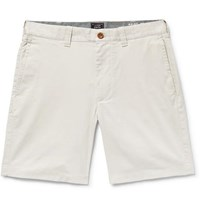 J.Crew Slim Fit Cotton Blend Twill Shorts Off White
