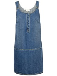 Fat Face Layla Denim Dress Mid Denim