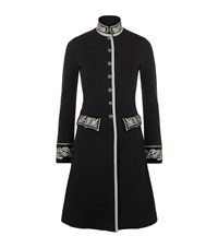 Denim And Supply Ralph Lauren Military Embroidered Coat Female Black