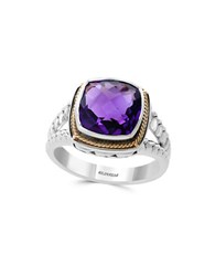 Effy Viola 18K Gold And Sterling Silver Amethyst Ring