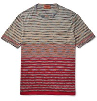 Missoni Space Dyed Cotton Jersey T Shirt Red