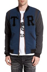 True Religion Men's 'Collegiate' French Terry Jacket Insignia Blue