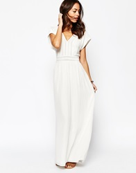 Esprit Lace Detail Maxi Dress White