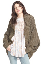 Free People 'Cocoon' Knit Cardigan Martini Combo