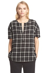 Brochu Walker 'Sutton' Plaid Wool Top Nightshade Plaid